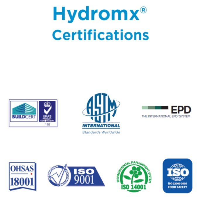 Hydromx certifications